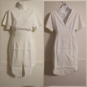 English Factory White Front Slit Tunic Dress Small